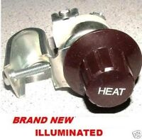 Universai Heater Switch 12volt 3 Speed Lighted Knob Rat Rod Hot Rod Flathead