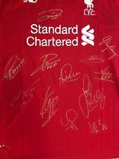 Liverpool Signed Home 18/19 New! Salah Mane Firminho