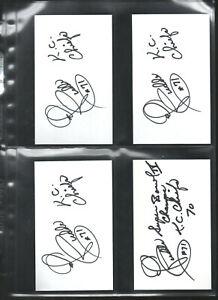 (4) ED BUDDE AUTOGRAPHED/AUTO/SIGNED/HAND SIGNED INDEX CARD 3x5