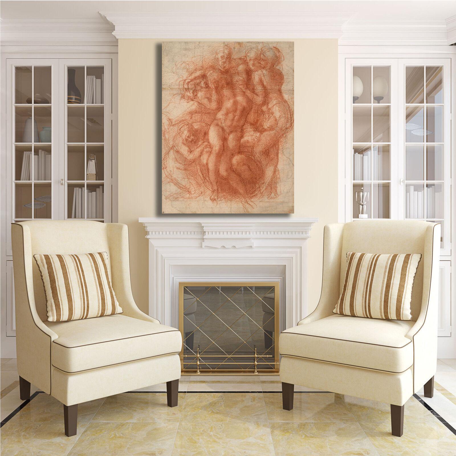 Michelangelo compianto design quadro stampa stampa stampa tela dipinto telaio arRouge o casa cb4a55