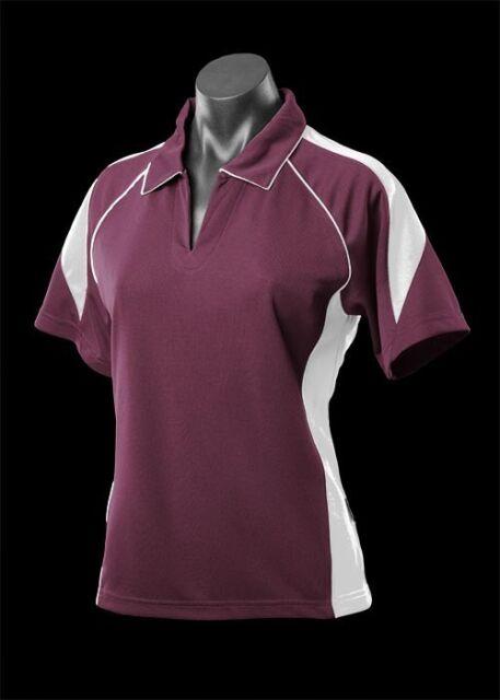 Premier,Womens,2301,Polo Shirt,Teamwear,Sport,Club,Racing,Netball,Bowls,Ladies