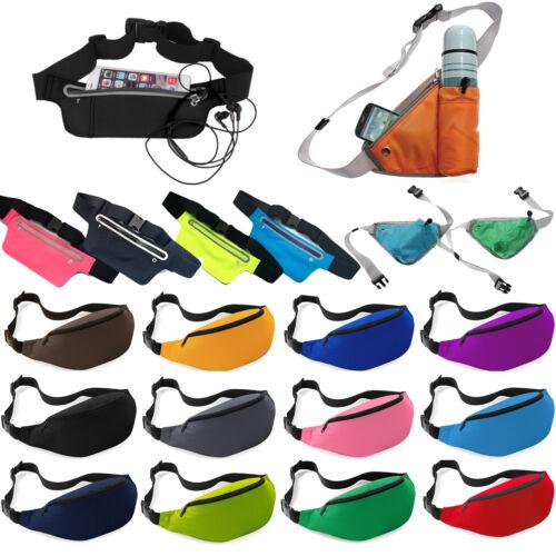 Unisex Travel Bum Bag Fanny Pack Waist Belt Pouch Sport Running Zip Money Wallet