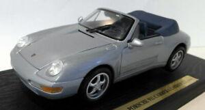 1-18-Maisto-escala-Diecast-31818-Porsche-911-carrera-Cabrio-1994-Silver