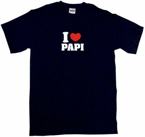 I Heart Love Papi Mens Tee Shirt Pick Size Color Small-6XL
