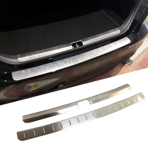 Inner/&Outer Rear Trunk Boot Bumper Guard Molding Steel 2pc For 2018 Toyota Camry
