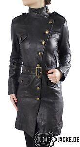 online retailer 17615 2bd71 Details zu Damen Echt Leder Jacke Mantel Gehrock
