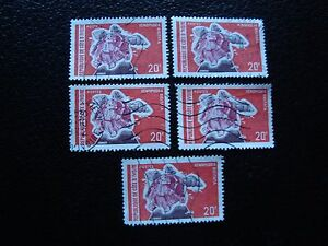 COTE-D-IVOIRE-timbre-yvert-tellier-n-338-x5-obl-A28-stamp