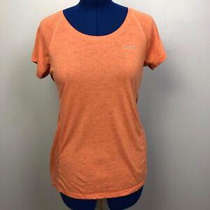 Eddie-Bauer-Women-039-s-Size-L-Orange-Stretch-Knit-Free-Dry-Pullover-Shirt-Top