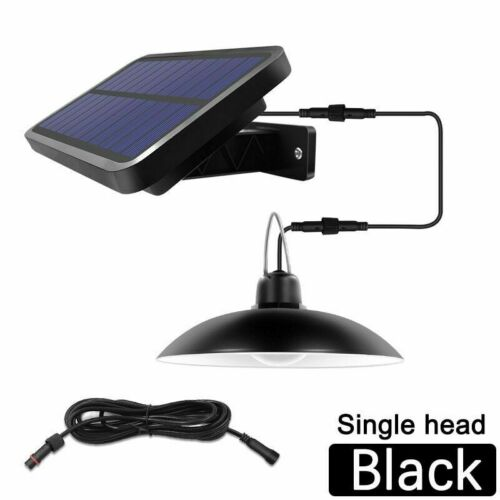 2 in 1 Double Head Solar Pendant Light Outdoor Indoor Garden Lamp Lights Camping
