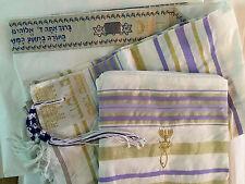 New Covenant Prayer Shawl, English / Hebrew & Bag (Israel) Holy Land Purple