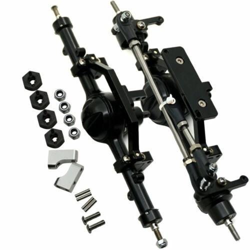 CNC Metal Vorderachse Hinterachse Achsen Achse für 1:10 RC D90 Crawler Schwarz