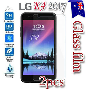 2X-LG-K4-2017-Tempered-Glass-Plastic-Screen-Protector-Film-Guard-LCD-Protector