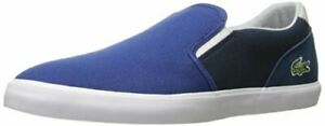Lacoste-Men-039-s-Jouer-Slip-ON-217-1-Blue-7-5-M-US