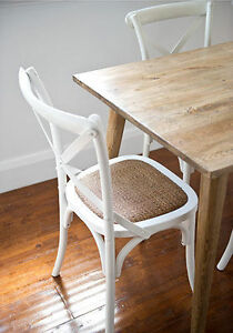 Retro Vintage Oak Dining Table And 6 White Chairs Danish Style Table 180x85 Ebay