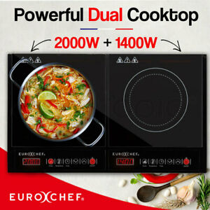 【EXTRA10%OFF】EuroChef Electric Induction Cooktop Portable Kitchen Ceramic