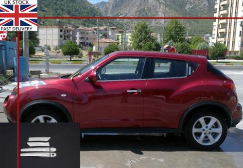 Nissan juke chrome poignée de porte couvercles acier inoxydable 2010 onwards