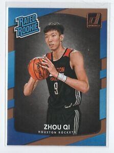 2017-18-Donruss-Rated-Rookies-151-Zhou-Qi-Houston-Rockets