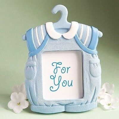 30 Baby Boy Blue & White Jumper Photo Frame Shower,Christening Gift Party Favors