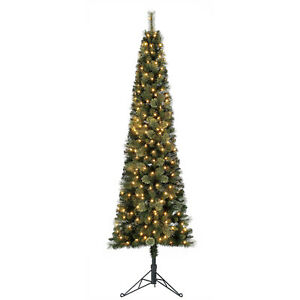 Home Heritage Cashmere 7ft Artificial Corner Christmas ...