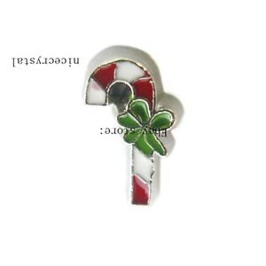 10pcs Candy Canes Floating charm For Glass Memory Locket Free shipping FC1101