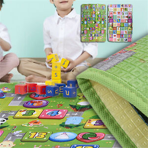 1.2M 1.5M Babys Kids Creeping Blanket Play Mat Foam Floor Picnic Toy Crawl Rug