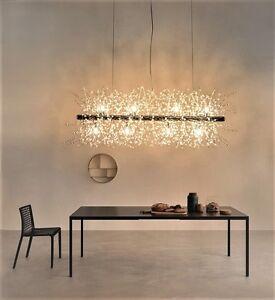Image Is Loading Modern Crystal Dining Room Restaurant LED Artistic Pendant