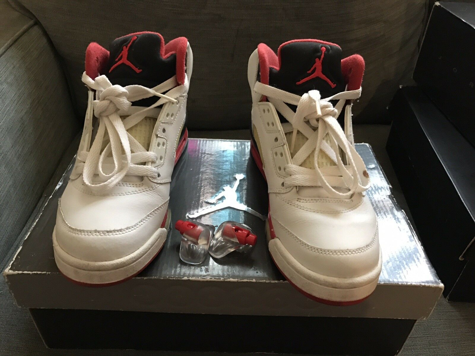2018 Fire Red 5s Size 5
