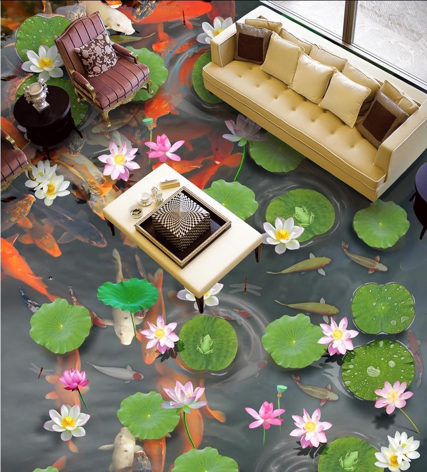 3D Lotus 96 Fototapeten Wandbild Fototapete Tapete Familie DE Lemon