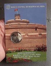1 SOL 2012  COIN BLISTER RIQUEZA Y ORGULLO DEL PERU FORTALEZA DEL REAL FELIPE N9