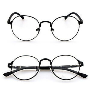 8a1d12db0a9f Image is loading Fashion-Hipster-Vintage-Retro-Metal-Frame-Clear-Lens-