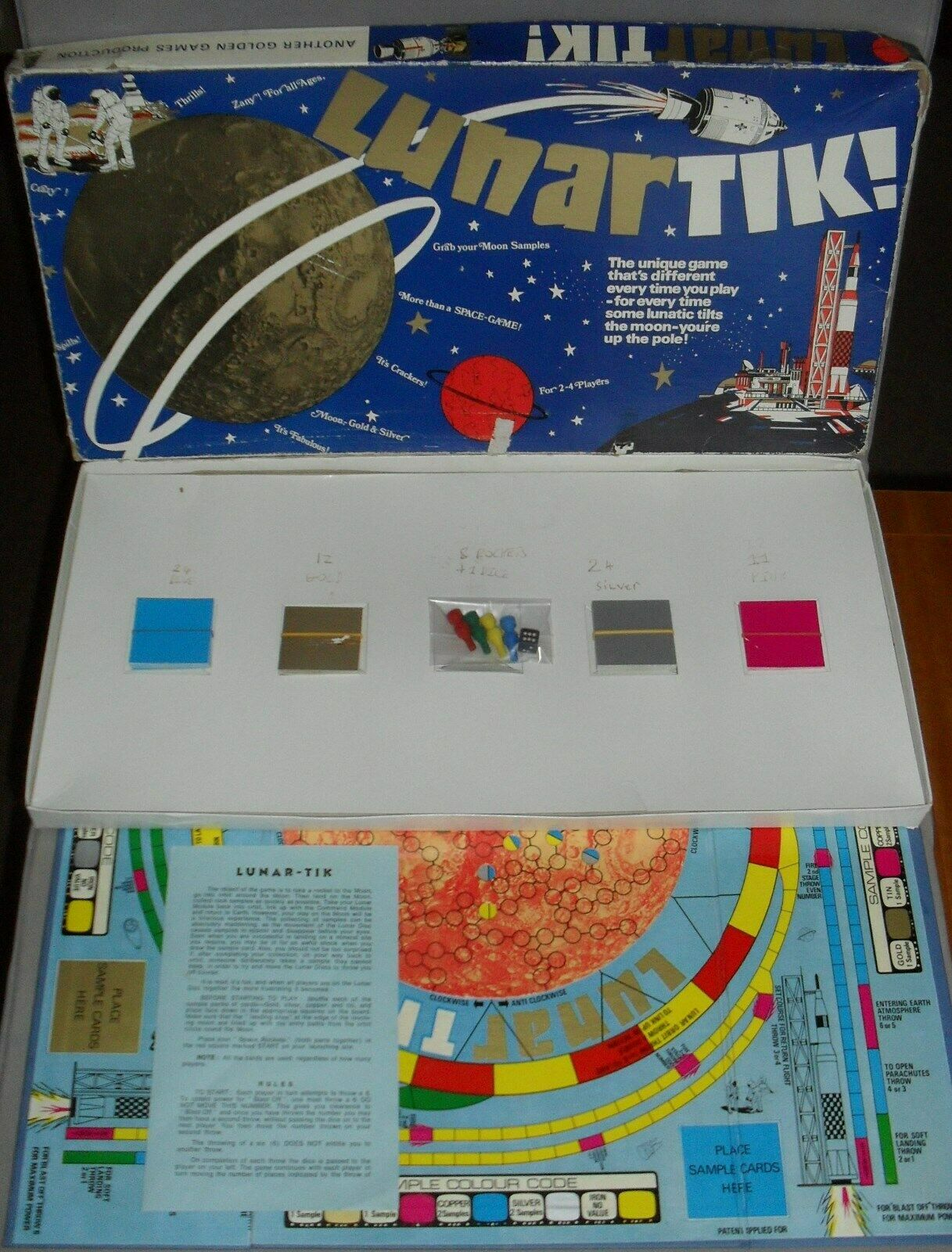 Lunartik Lunar Moon Race Space Mining Board Game 1970s 1970s 1970s COMPLETE ULTRA RARE 5e7bb2