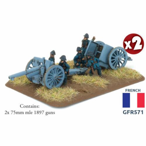 GFR571 French Flames of War BNIB Great War 75mm mle 1897 gun
