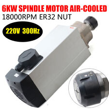 Cnc 6000w Er32 Air Cooling Spindle Motor Router Mill Engraving Machine 18000rpm