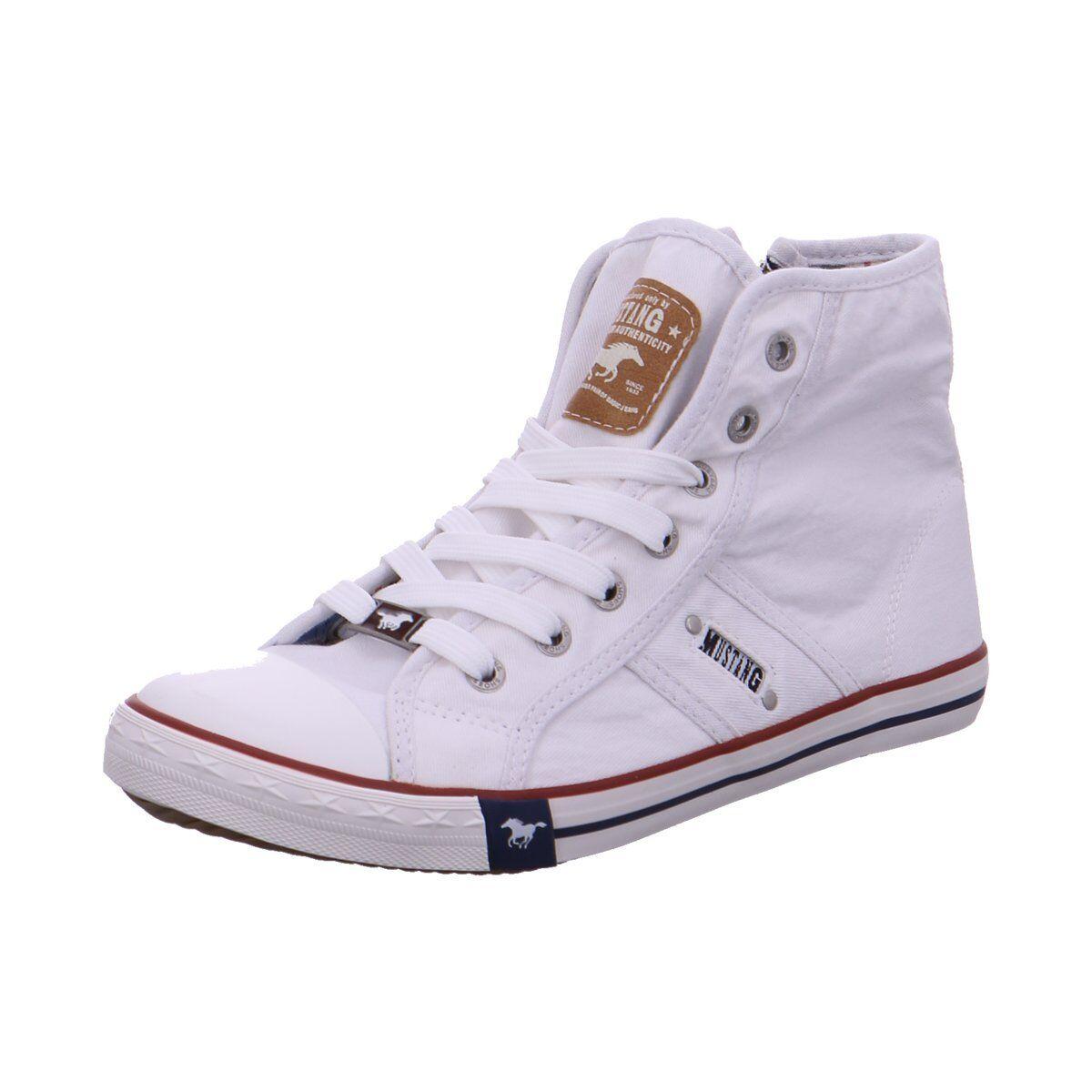 NEU Mustang Damen Sneaker Sort.D3 1099502-001 weiß 396686