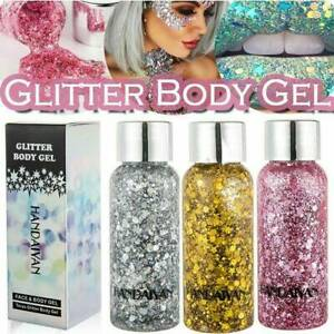 Holographic-Glitter-Sequin-Festival-Face-Hair-Body-Makeup-Nail-EyeShadow-Gel-30G
