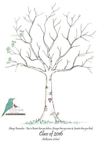 École//Maternelle Leaver Fingerprint Tree-Personnalisé Keepsake-A3 /& Extras