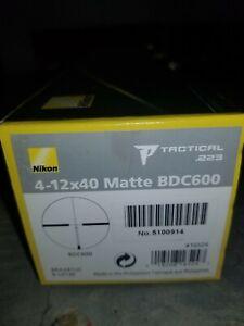 Nikon P-Tactical 4-12x40 BDC 600 Scope