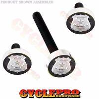 Silver Billet Fairing Windshield Hardware Kit 14-up Harley - Silver Police Badge
