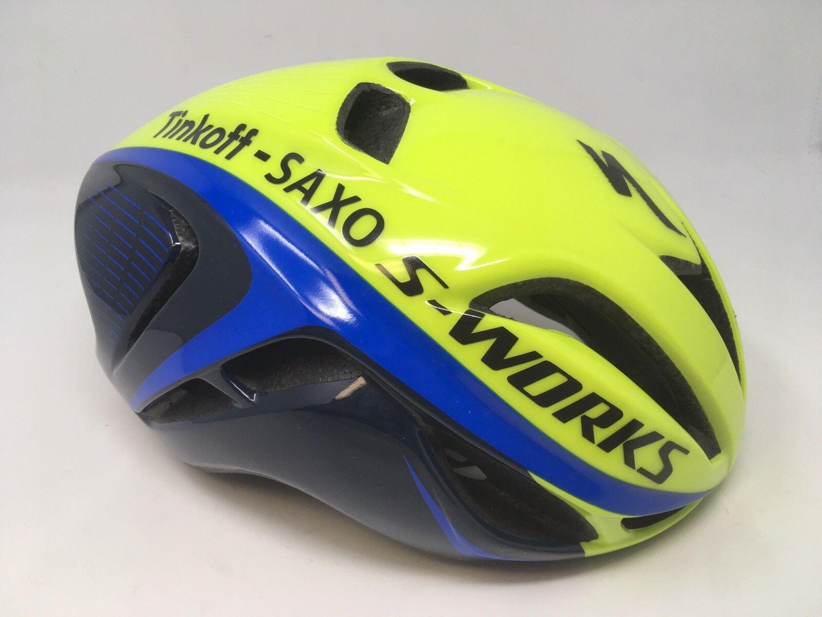 Nuevo Specialized S-WORKS Evade Team Tinkoff SAXO aerodinámico casco SM pequeña