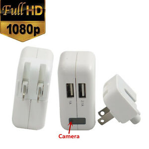 1080P HD Spy Hidden Camera Real AC Power Adapter Motion DVR Plug Digital Video