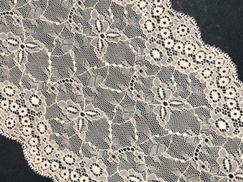 "laverslace Skintone Beige Wide Floral Stretch Tulle Lace Trim 6.5/""//16.5cm"