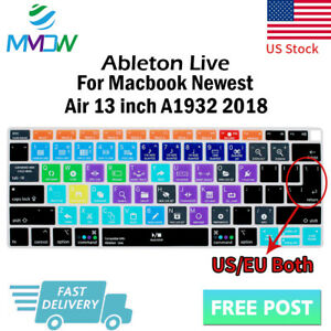 on sale 84598 3f71b Details about Ableton Live Hotkey Silicone Keyboard Cover Skin For Macbook  New Air 13