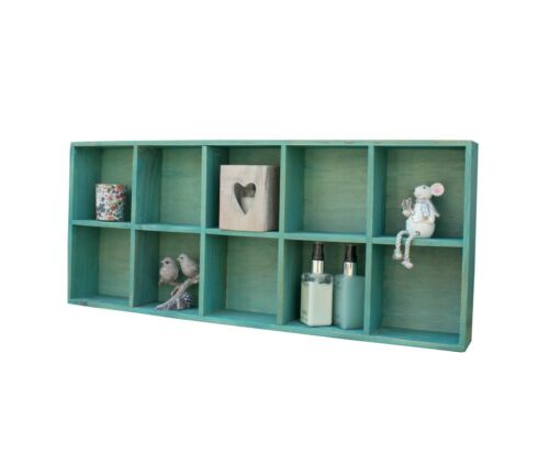 Compartment Wall Shelf Rustic Wooden Storage Display Shelving Hanging Rack New Furniture Bookcases Shelving