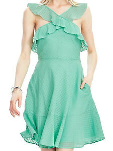 NWT-Banana-Republic-New-138-00-Women-Mint-Halter-Ruffle-Dress-Size-6-10-14
