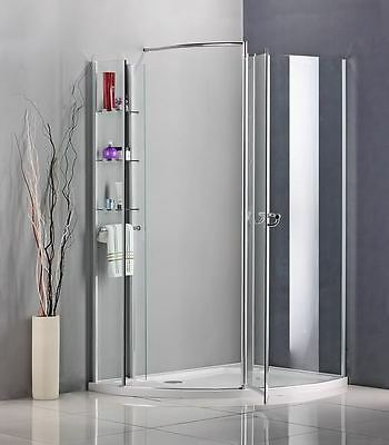 Chrome Walk In Pivot Shower Enclosure Wet Room Screen Cubicle Door Stone Tray