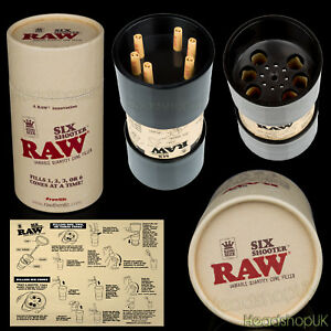 RAW-Six-Shooter-Kingsize-Multi-Cone-filler-Fills-up-to-6-pre-rolled-cones