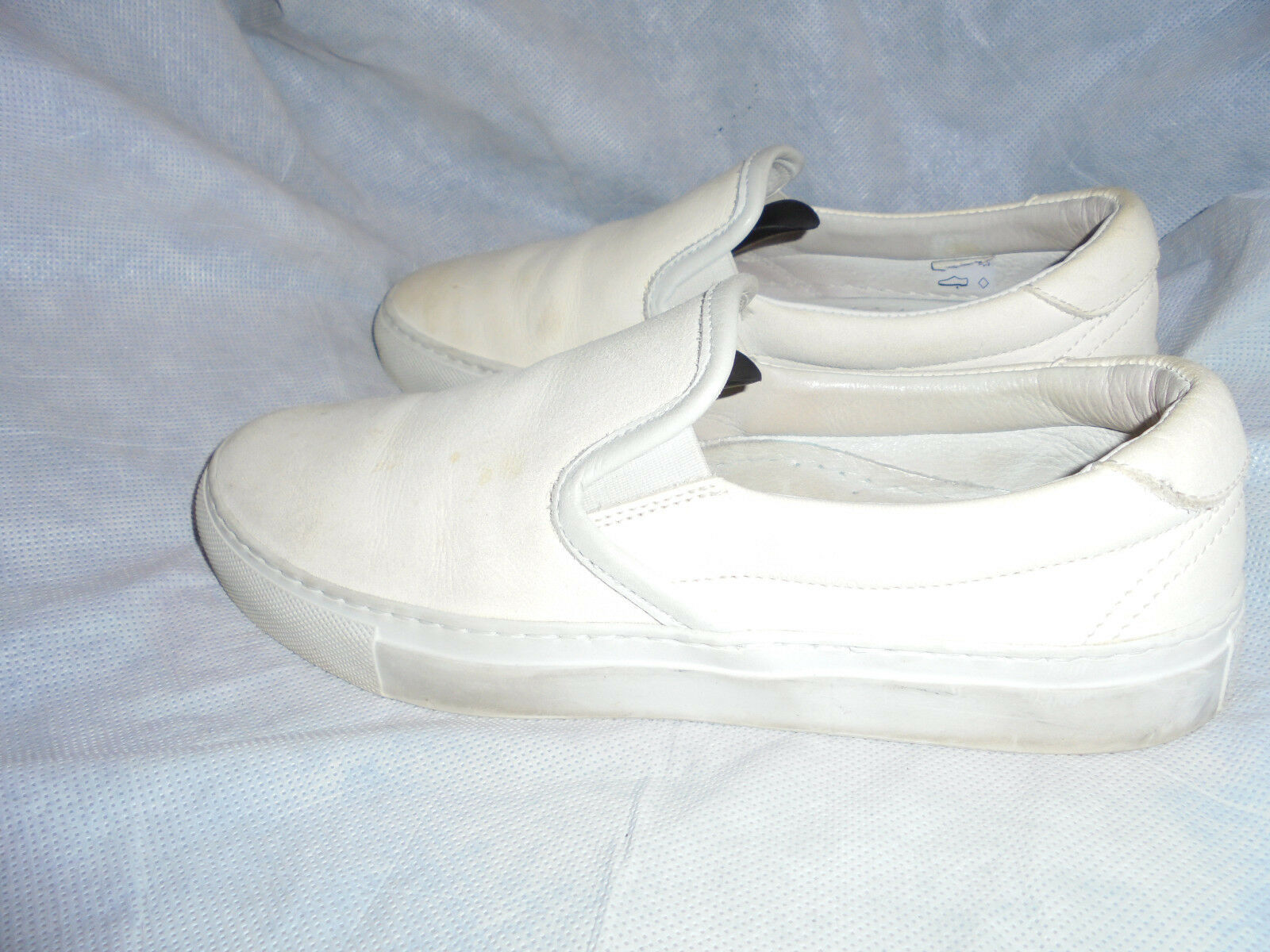 DIEMME WOMEN OFF WEISS LEATHER SLIP ON SNEAKER SIZE UK 5 EU 38 VGC