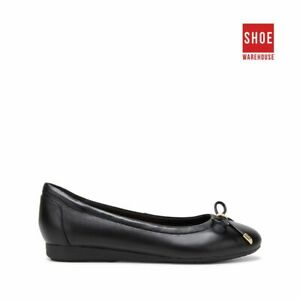 Hush Puppies THE BALLET Black Womens Ballet Casual Leather Shoes