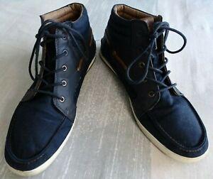 sz11 aldo canvas/nylon lace up hitop casual shoe w
