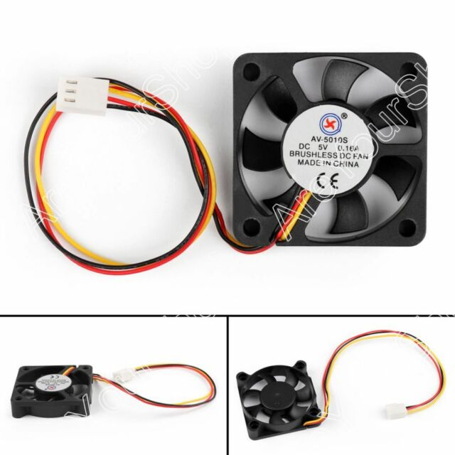 1Pcs DC Brushless Cooling PC Computer Fan 5V 5010 50x50x10mm 0.16A 3 Pin Wire